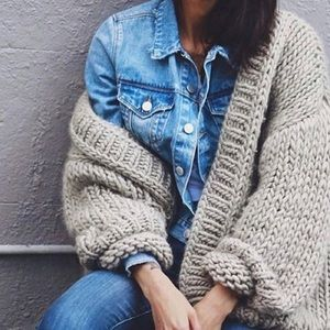 Neutral Fuzzy Cardigan
